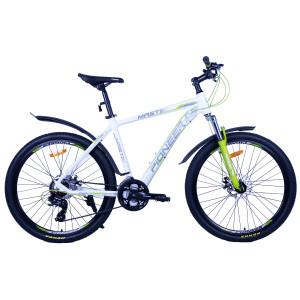 Велосипед Pioneer Master T 19'' white/green/grey