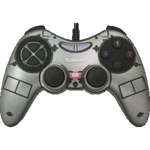 Проводной геймпад DEFENDER Zoom USB Xinput, 10 кнопок, 2 стика