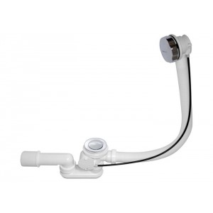 Сифон BAS для ванны пластик п/а с автосливом