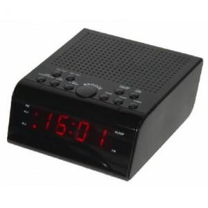 Радиобудильник SUPRA SA-44FM, черный подсветка красная