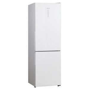 Холодильник HIBERG RFC-311DX NFGW, белое стекло