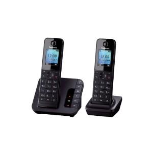 Радиотелефон Panasonic KX-TGH222RUB черный 2 трубки автооветчик