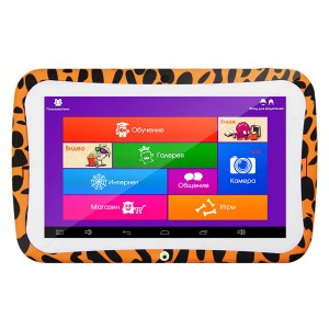 Планшет Turbo MonsterPad RK3188 8Gb, оранжевый/леопард
