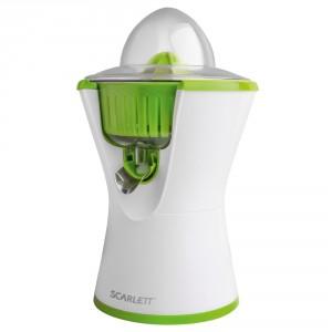 Соковыжималка Scarlett SC-JE50C03, белый/зеленый