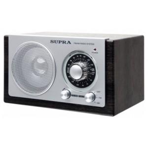 Радиоприемник SUPRA ST-108, черно-серебристый