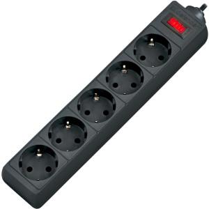 Сетевой фильтр DEFENDER ES 5 5 м, 5 розеток, черный