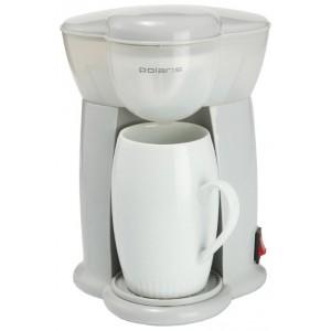 Кофеварка Polaris PCM 0109, черный/салатовый